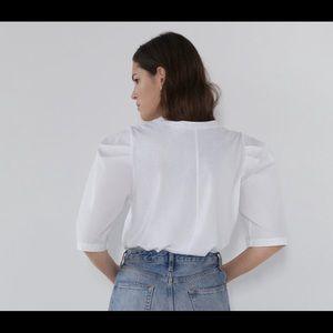 Zara Tops - ZARA Puff Balloon Sleeve Shirt